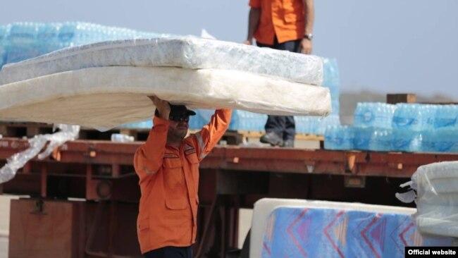 Parte de las 12 toneladas de ayuda humanitaria enviada desde venezuela a Cuba.