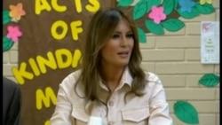 Primera Dama visita albergue para menores indocumentados en Arizona