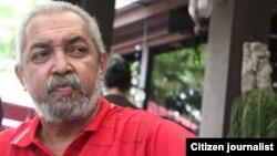 Víctor Domínguez, escritor censurado en Cuba/ Foto cortesía: Luis Felipe Rojas.