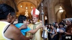 Primera misa del nuevo arzobispo de La Habana