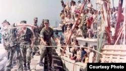 125.000 cubanos llegaron desde Mariel, Cuba a Cayo Hueso, EEUU, entre abril y octubre de 1980.