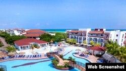 Vista del hotel Memories-Paraíso Azul, en Cayo Santa María, Cuba.