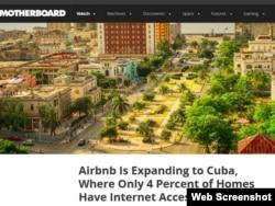 Motherboard cuestiona la expansión del servicio online Airbnb a una Cuba sin internet
