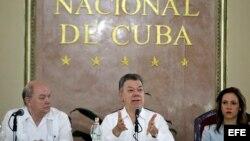 Juan Manuel Santos inauguró un foro de negocios entre empresas colombianas y cubanas.