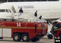 El aeropuerto Madrid-Barajas activó el protocolo de emergencia ante un pasajero de Air France sospechoso de ébola (EFE).