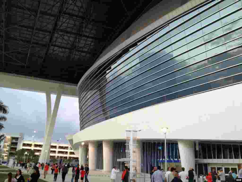 El estadio de los Marlins