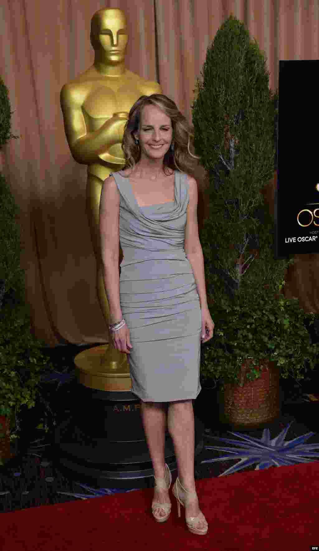 """La actriz estadounidense Helen Hunt, nominada por """"The Sessions""""."""