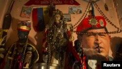 Altar para Chávez.