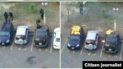 Colectivos destrozan e incendian autos en el estacionamiento de la urbanización Palaima, en Maracaibo