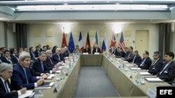 Vista general al comienzo de la cumbre nuclear con Irán en Lausana, Suiza (31 de marzo, 2015).