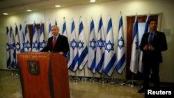 Benjamin Netanyahu en conferencia de prensa en Jerusalem el 23 de enero del 2013.