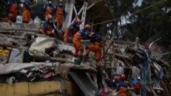 Equipos de rescate en México excavan escombros en busca de sobrevivientes del terremoto