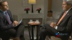 Kerry insta a levantar el embargo al régimen de Cuba