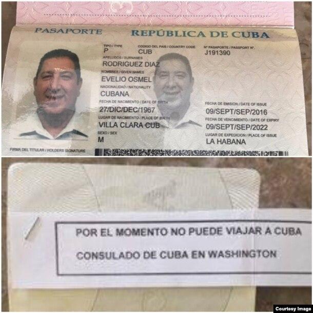 Denegación a Evelio Osmel Rodríguez de permiso para entrar a Cuba