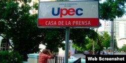 La sede de la Unión de Periodistas de Cuba, en La Habana. (Tomada del blog de Fernando Ravsberg)