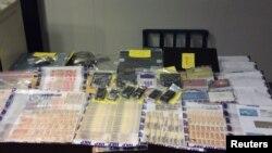 Documentos de la Interpol de una investigación en Honk Kong sobre juegos ilegales durante la Copa Mundial.