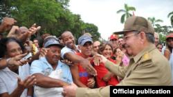 Raúl Castro en Santiago de Cuba.