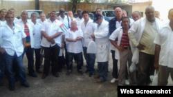 Brigada médica cubana en Liberia.