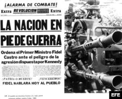 Crisis de los misiles. Portada relacionada con el conflicto vivido entre el 15 y el 28 de octubre de 1962.