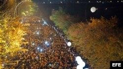 Festejos en Berlín por el aniversario 25 de la caída del Muro.