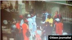 Reporta Cuba. Vigilancia de civiles en Chaparra impide homenaje. Foto: Ivo Laffite.