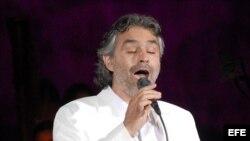 Fotografía de archivo de Andrea Bocelli.
