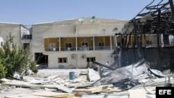 Edificio de television siria atacado