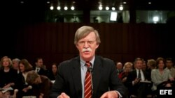 Fotografía de archivo de John Bolton, exembajador de EEUU ante las Naciones Unidas. EFE/Shawn Thew.