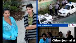 Vigilancia y represión domingo 26 de marzo en sede de las Damas de Blanco Habana.