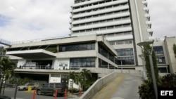 Vista de la fachada del Centro Médico Docente La Trinidad, en Caracas (Venezuela).