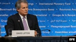El vicepresidente primero del Fondo Monetario Internacionanal, David Lipton. EFE.