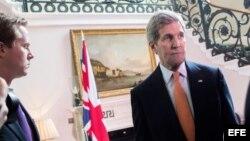 John Kerry, de visita en Londres.