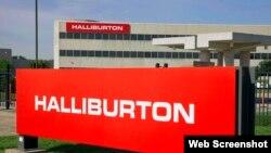 Logo en las oficinas centrales de Holliburton, en Houston, Texas.