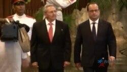 Presidente de Francia finaliza visita a Cuba