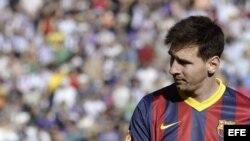El delantero del Barcelona Lionel Messi
