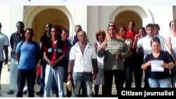 Reporta Cuba. Miembros de UNPACU que pudieron llegar al Cobre, 22 de febrero.