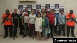 Cubanos arrestados en la isla de San Andrés.