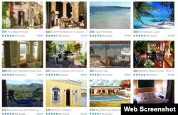 Casas de alquiler en Cuba gestionadas desde Airbnb.