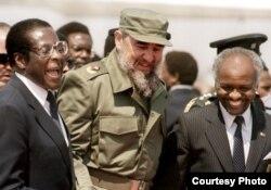 Castro visita Zimbabue