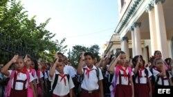 Comienzo del curso escolar 2015-2016. Foto EFE.