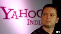 El cofundador y jefe de Yahoo! David Filo.