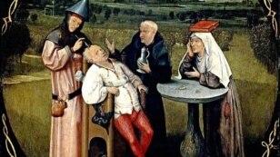 """""""Extracción de la piedra de la locura"""", por Hieronymous Bosh, El Bosco (1450-1516)"""