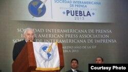 Ultima jornada de la reunión de la SIP en Puebla, México.