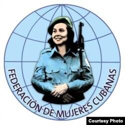 El logo de las federadas, con la imagen de Vilma Espín.