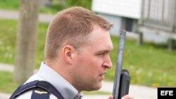 Foto de archivo de un policía canadiense.