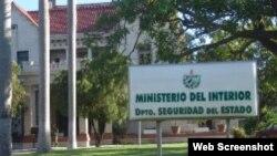 Edificio de la Seguridad del Estado en Cuba.