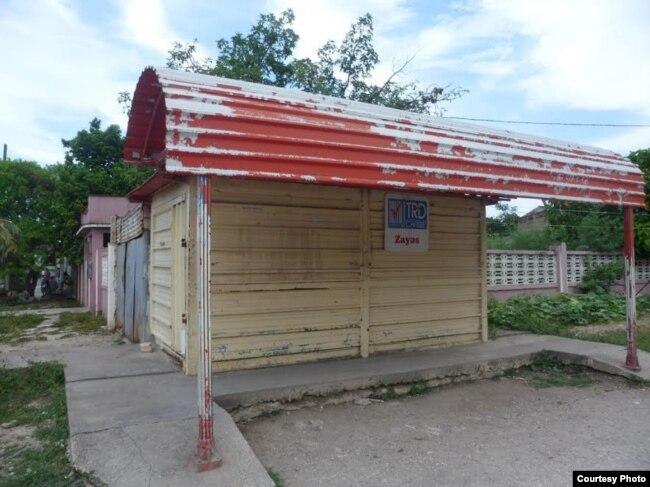 TRD cerrada en Villa Cara. (Foto del autor)