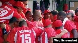 Equipo nacional de béisbol de Cuba.