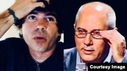"Gorki Águila (i), líder de la banda ""Porno para Ricardo"", y Alpidio Alonso (d), Ministro de Cultura de Cuba."
