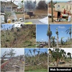 Areas rurales tras paso del huracán Matthew por Baracoa